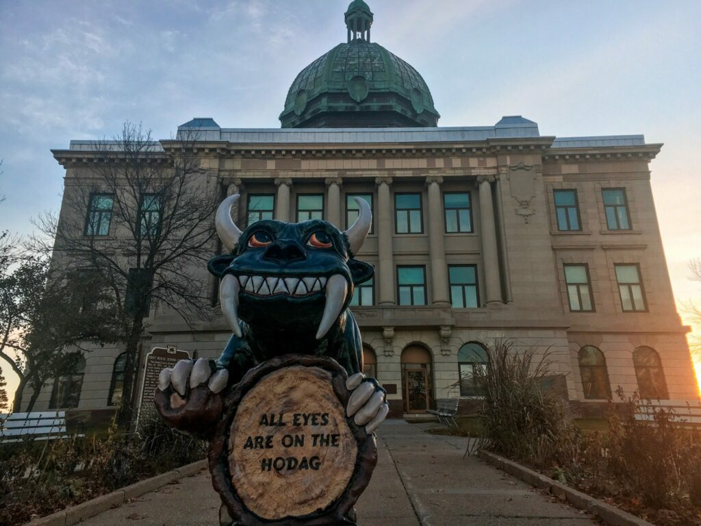 Hodag in front of the Courthouse