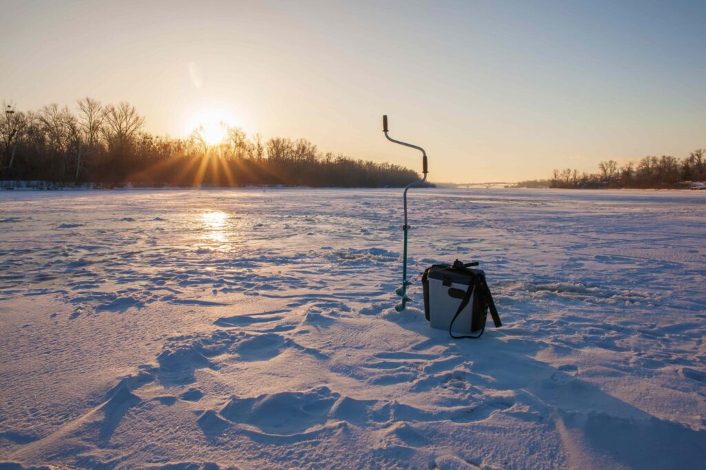 Ice fishing in Florence County, Wisconsin