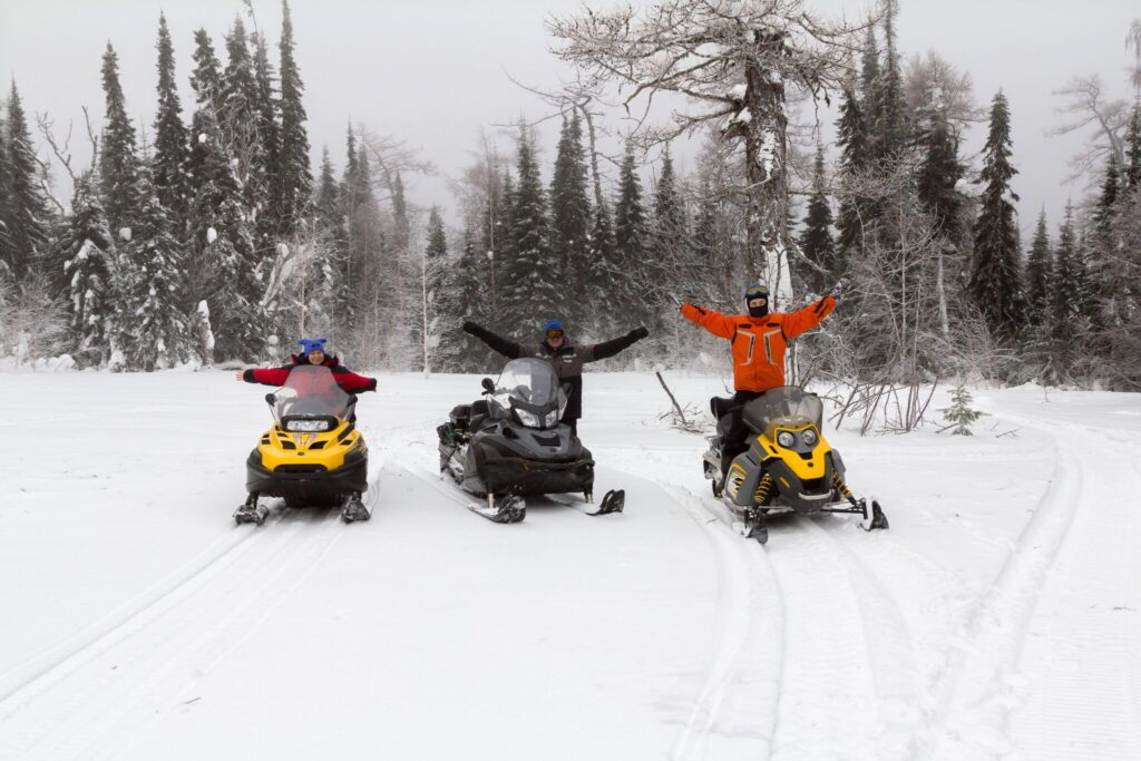 Enjoying the Snowmobile Trails of Portage County Wisconsin