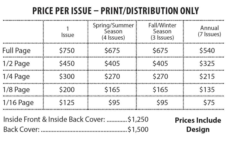 Up North Action Print and Distribution Only Prices
